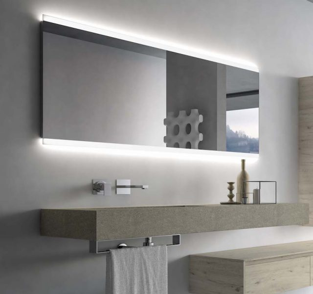 Dual Mirror LED back illuminated with stainless steel frame